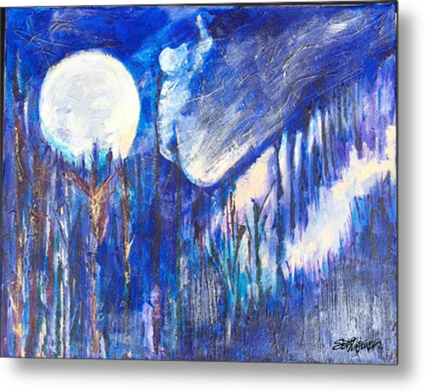 The Wind Blows A Kiss To The Moon Metal Print