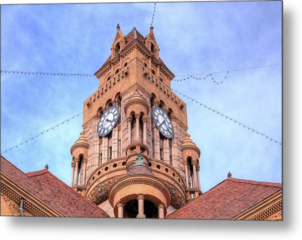 The Wise County Courthouse Clock Tower Metal Print by JC Findley