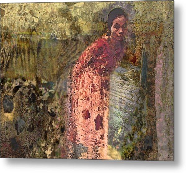 The Woman At His Tomb Metal Print