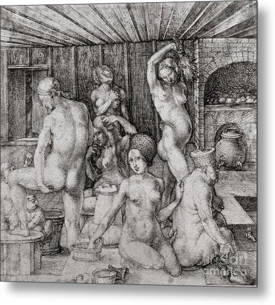 The Women's Bath, 1496 Metal Print