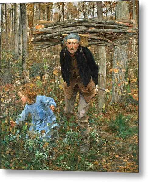 The Wood Gatherer Metal Print