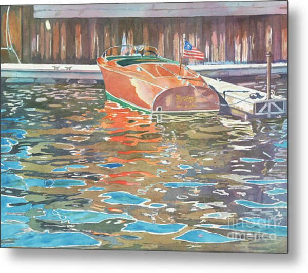 The Wooden Boat Metal Print