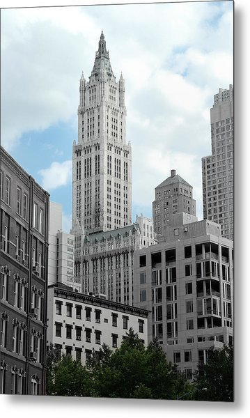 The Woolworth Building - Nyc Metal Print