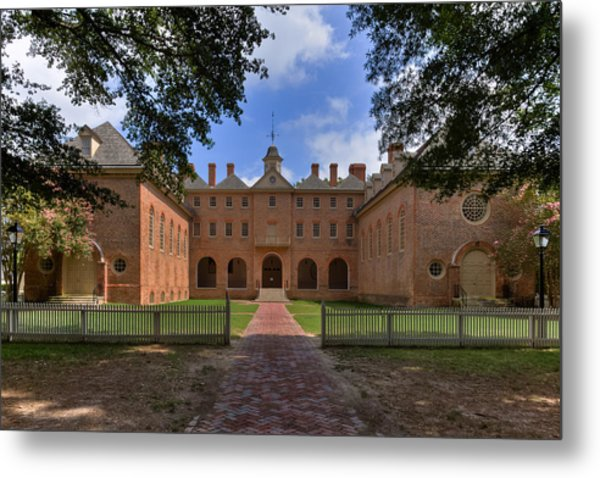 The Wren Building At William And Mary Metal Print