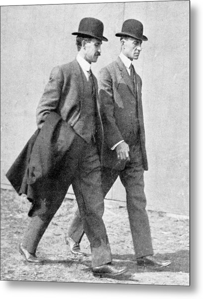 The Wright Brothers, Us Aviation Pioneers Metal Print