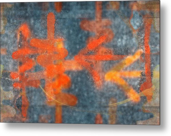 Metal Print featuring the digital art The Writing On The Wall by rd Erickson