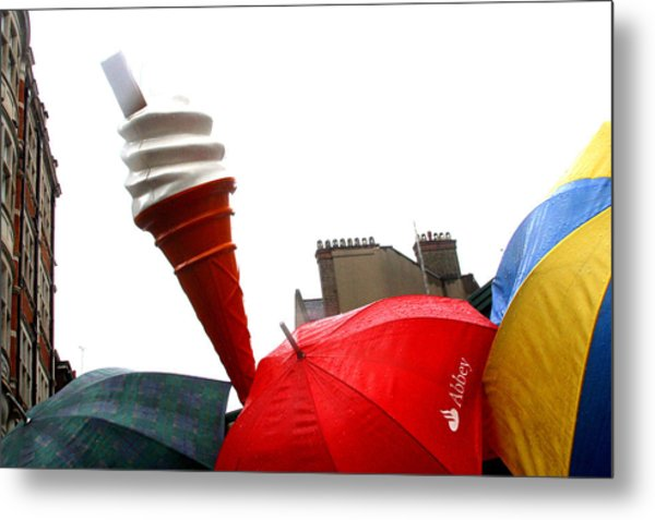 The Wrong Day For Ice Cream Metal Print by Jez C Self