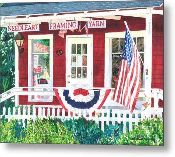 The Yarn Shop Metal Print