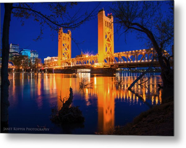 The Yellow Bridge  Metal Print