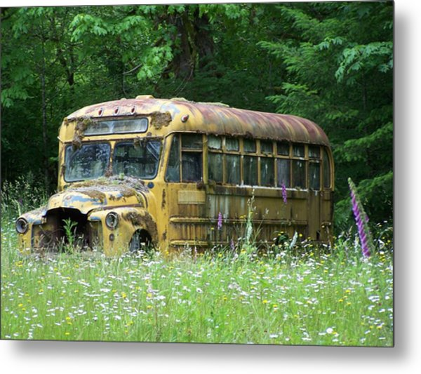 The Yellow Bus Metal Print