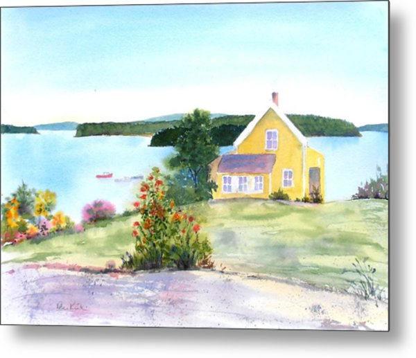 The Yellow House Metal Print