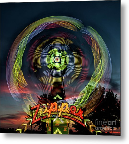 The Zipper Motion Art By Kaylyn Franks Metal Print