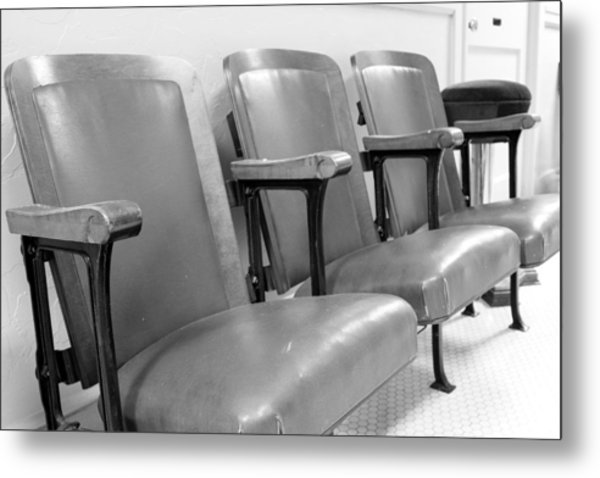 Theatre Seats Metal Print