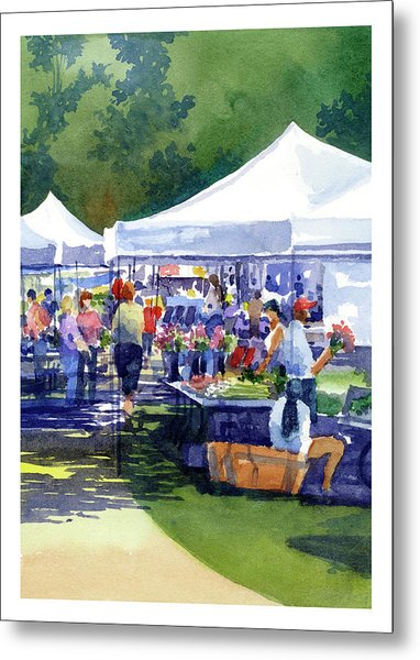 Theinsville Farmers Market Metal Print