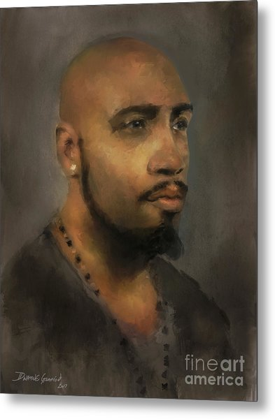 Metal Print featuring the digital art T. Wilson by Dwayne Glapion