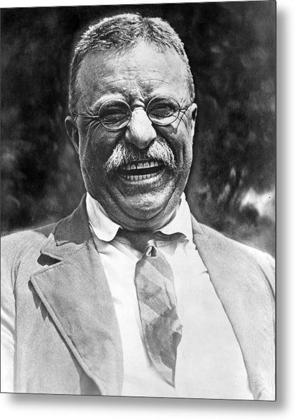 Theodore Roosevelt Laughing Metal Print