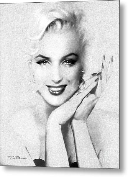 Theo's Marilyn 133 Bw Metal Print