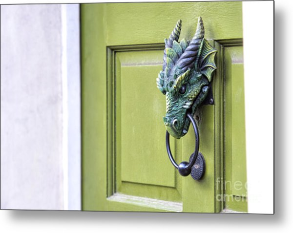 There Be Dragons Inside Metal Print