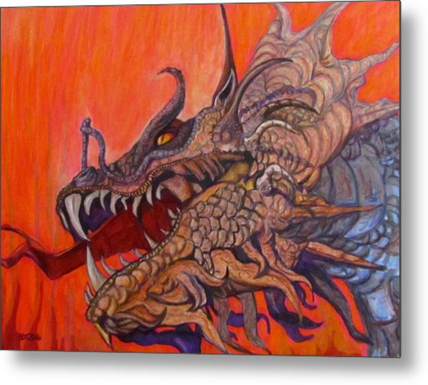 There Once Were Dragons Metal Print