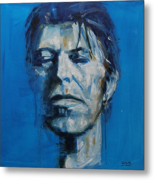 There S A Starman Waiting In The Sky Metal Print