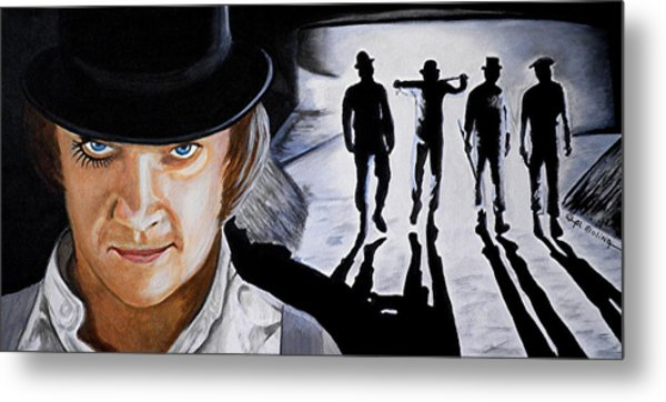 There Was Me That Is Alex And My Three Droogs Metal Print