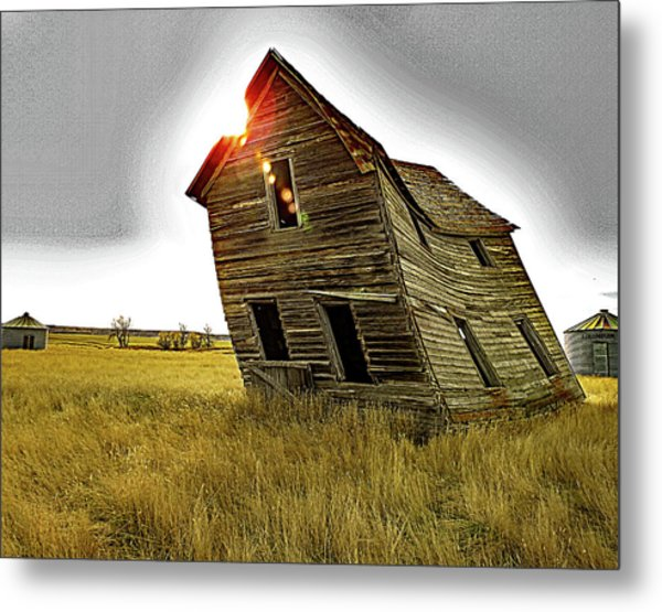 There Was Once A Crooked House Metal Print