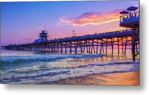There Will Be Another One - San Clemente Pier Sunset Metal Print