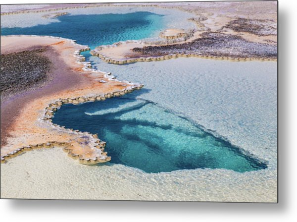 Metal Print featuring the photograph Thermal Pool At Yellowstone by Lon Dittrick
