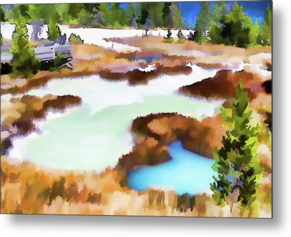 Thermal Pools, West Thumb Ynp Metal Print