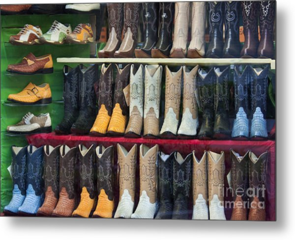 These Boots Are Made For Walkin'... Metal Print by Mark Hendrickson