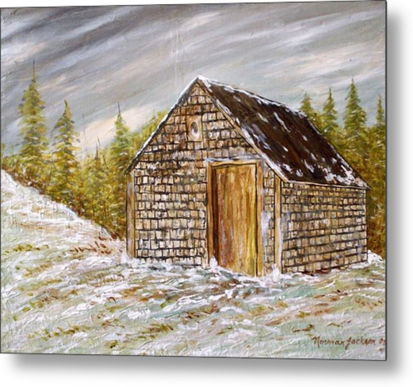 Thewoodshed Metal Print by Norman F Jackson