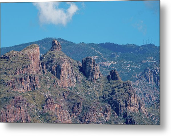 Metal Print featuring the photograph Thimble Peak With Summer Greenery by Dan McManus