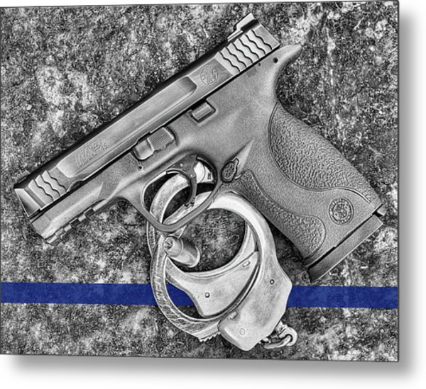 Thin Blue Line 45 Metal Print by JC Findley