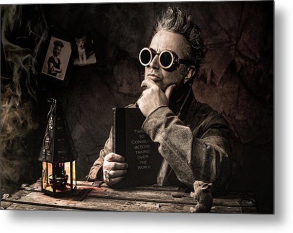 Metal Print featuring the photograph Things To Consider - Steampunk - World Domination by Gary Heller