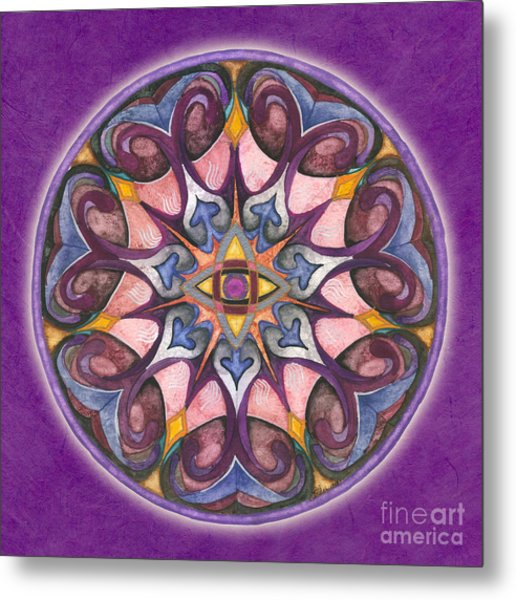 Third Eye Mandala Metal Print