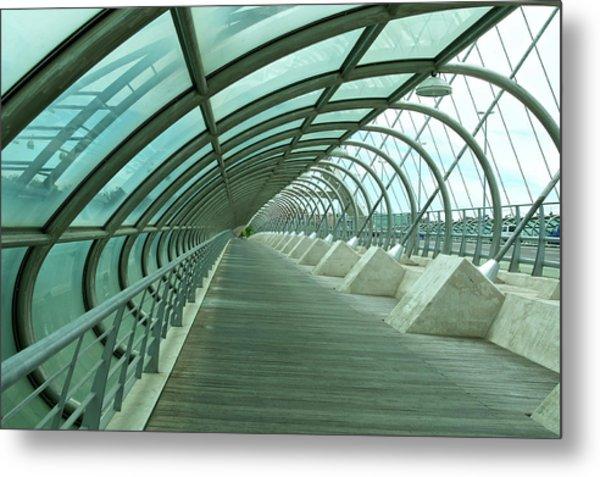 Third Millenium Bridge, Zaragoza, Spain Metal Print