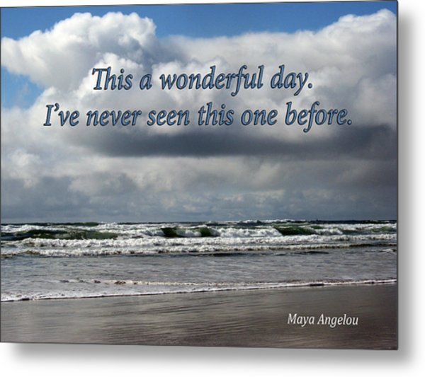 This Is A Wonderful Day Metal Print