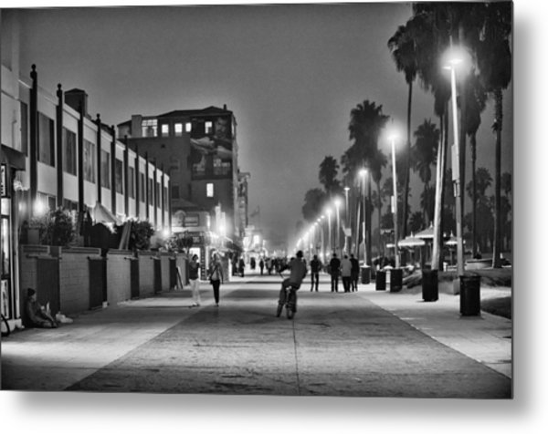This Is California No. 11 - Venice Beach Biker Metal Print