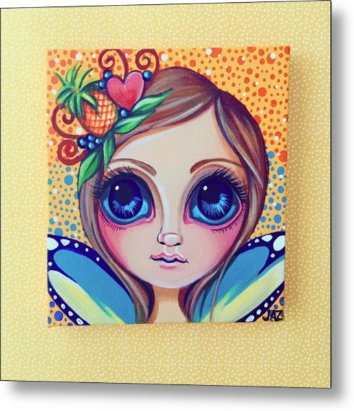 This Little Faery Cutie Today Flew Into Metal Print