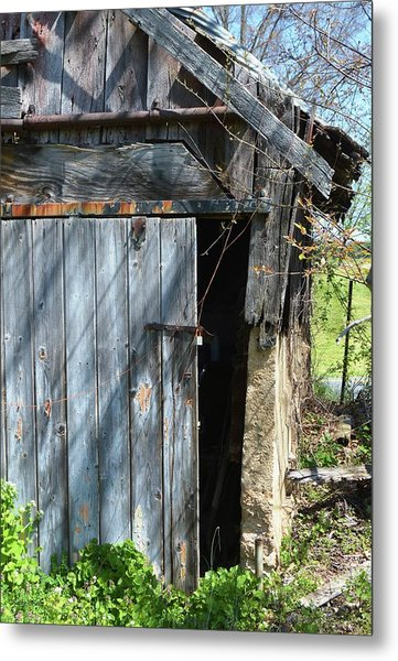 This Old Barn Door Metal Print