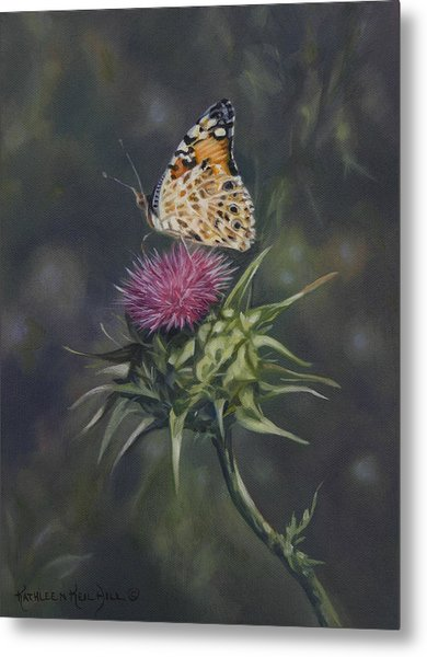 Thistle Dew Metal Print by Kathleen  Hill