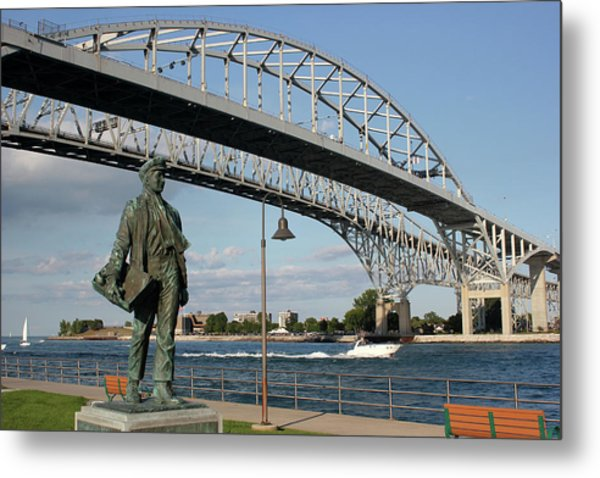 Thomas Edison And Blue Water Bridge 1 Metal Print