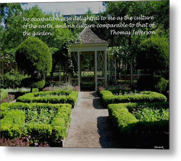 Thomas Jefferson On Gardens Metal Print