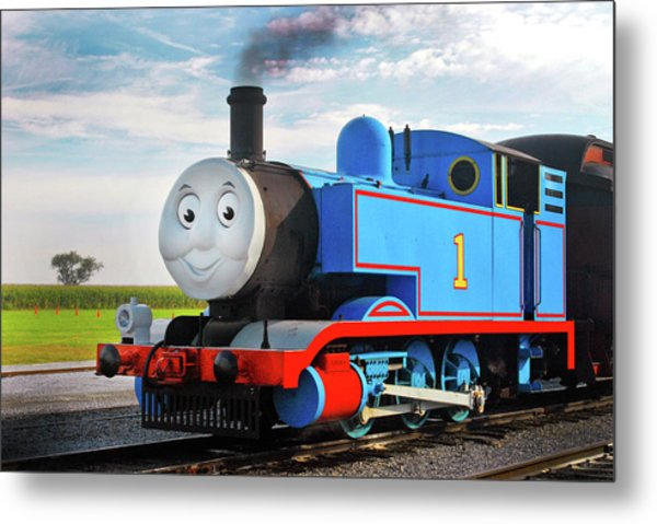 Thomas The Train Metal Print