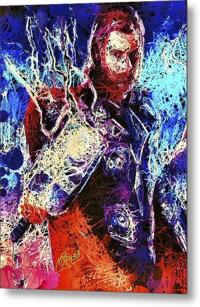 Thor Charged Up Metal Print