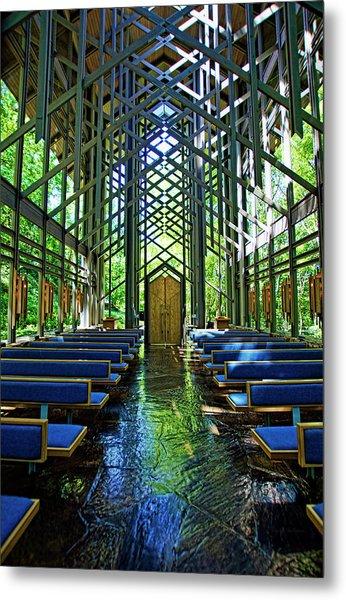 Thorncrown Chapel Serenity Metal Print