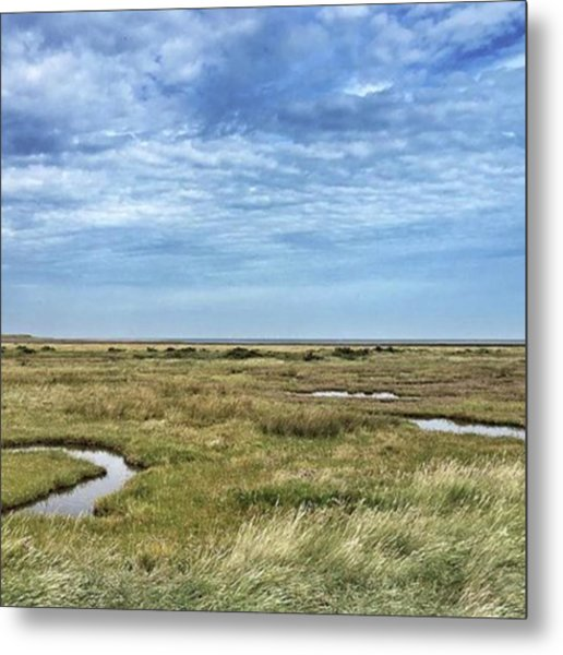 Thornham Marshes, Norfolk Metal Print