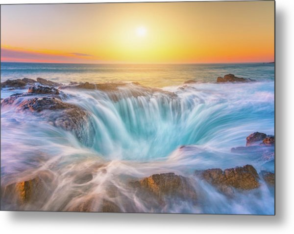 Metal Print featuring the photograph Thor's Light by Darren White