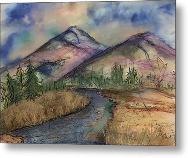 Thoughts Of Glacier Metal Print