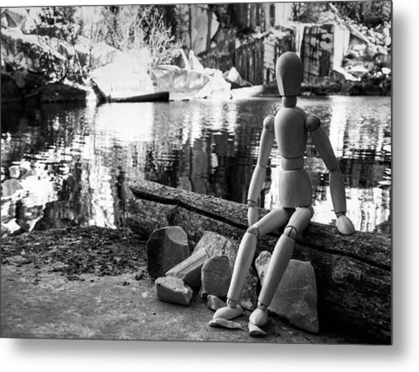 Thoughts Reflected Metal Print